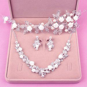 Wedding Sets for Women Bling Bride Hair Accessorie